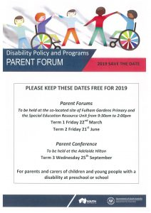 Family Forum Save the date 2019